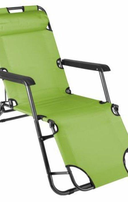 2337bf48a07 Сгъваем шезлонг, сгъваем градински стол, походно легло - зелено - до 100 кг
