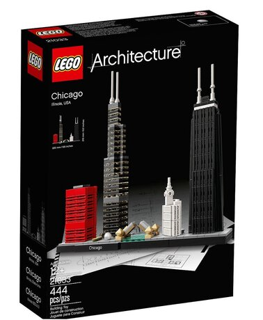ЛЕГО конструктор 21033, LEGO конструктор, LEGO Architecture Chicago 444 елемента