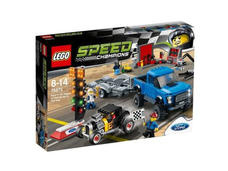 ЛЕГО конструктор 75875, LEGO конструктор, LEGO Speed Champions Ford F-150 Raptor & Ford Model A Hot Rod 664 детайла